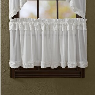 Andrade Unlined Tier Curtain (Set of 2) by Ophelia & Co.