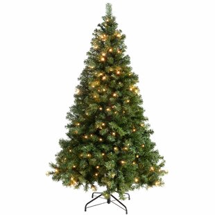 053176b183c3 Multi-Function 6ft Green Spruce Artificial Christmas Tree with 200  Clear White lights with Stand