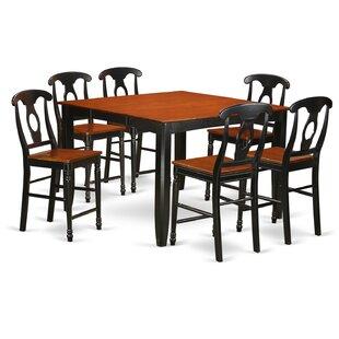 Tamarack 7 Piece Counter Height Pub Table Set Red Barrel Studio