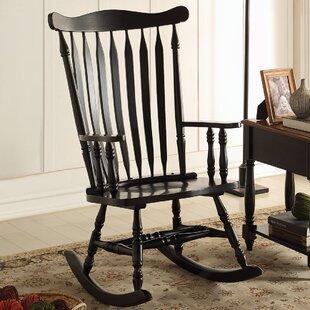 Black Wood Rocking Chairs You Ll Love In 2021 Wayfair