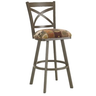 Hufford 34 Swivel Bar Stool Red Barrel Studio