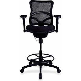 Lorell Mid-Back Mesh Drafting Chair