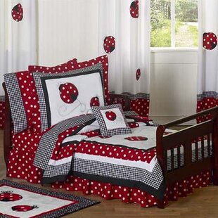 little ladybug 5 piece toddler bedding set - Toddler Girl Bedding