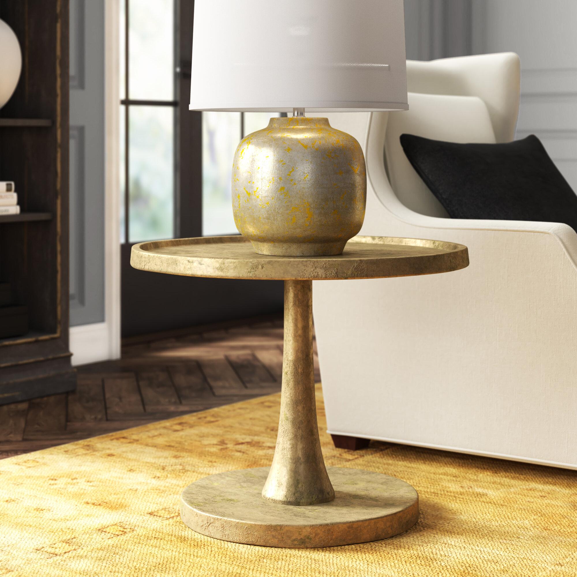 Bernhardt Benson Tray Top Pedestal End Table Perigold