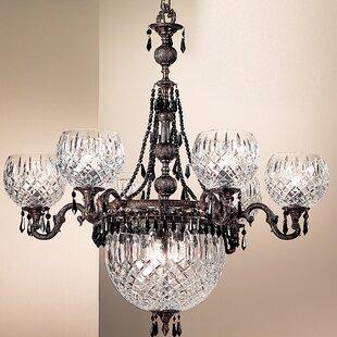 Waterbury 9-Light Shaded Chandelier by Classic Lighting