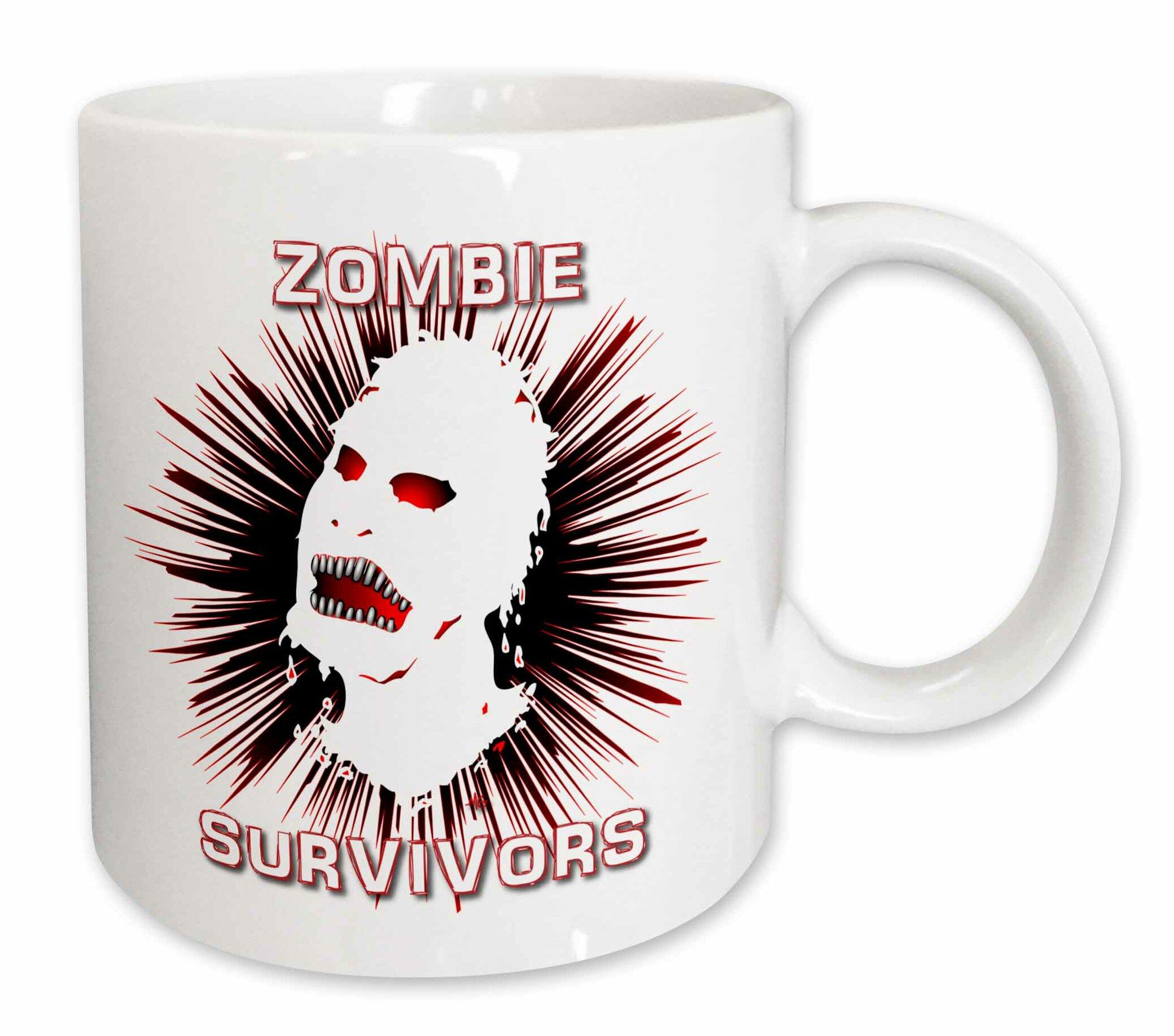 East Urban Home Icon Zombie Survivors 2 On White Coffee Mug Wayfair