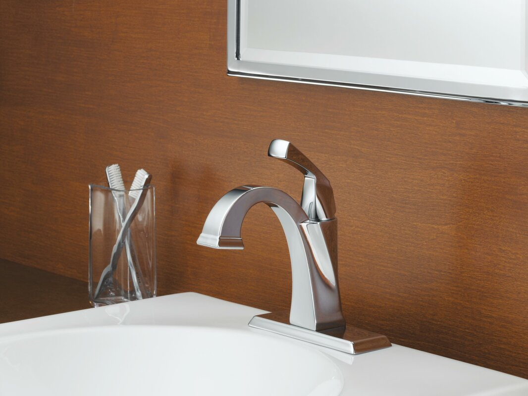 Delta Dryden™ Single hole Bathroom Faucet with Drain Assembly and ...