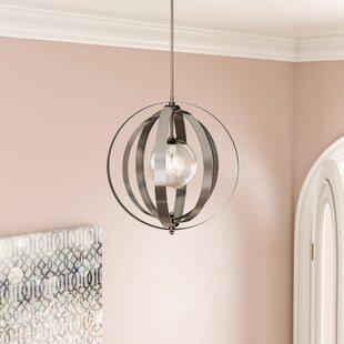 Willa Arlo Interiors Brookville Silver 1-Light Pendant