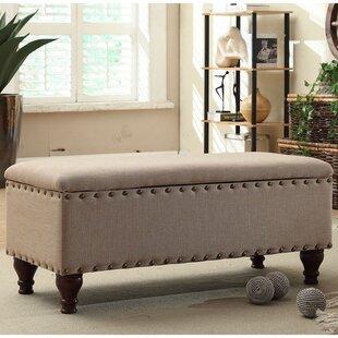 Lattimer Upholstered Storage Bench by Three Posts