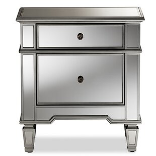 Compare & Buy Mainor Glamour 2 Drawer Nightstand by Rosdorf Park