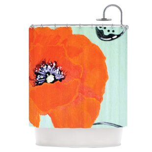 Vintage Poppy Single Shower Curtain
