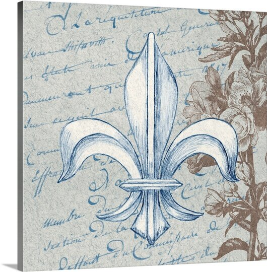 'French Fleur de Lis II' Graphic Art Print