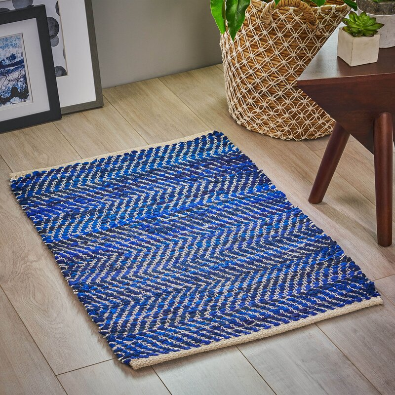 Isabelline One Of A Kind Fleurimon Hand Knotted 2 X 3 Blue Area Rug Wayfair