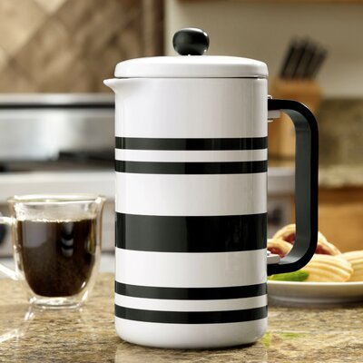 BonJour 8-Cup French Press Coffee Maker BonJour Color: Black Stripes