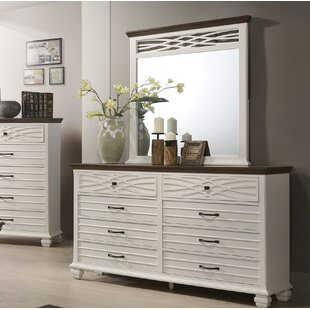 Octavius 8 Drawer Double Dresser with Mirror By Gracie Oaks