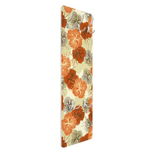 Enchanting Hibiscus Wall Mounted Coat Rack By Symple Stuff