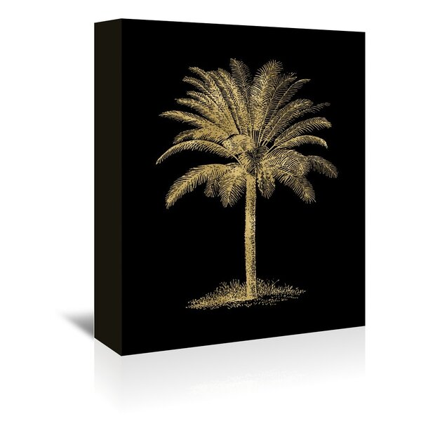 Bay Isle Home Palm Tree Graphic Art On Wrapped Canvas Wayfair