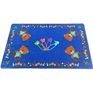 Baby Bears Hand-Tufted Synthetic Blue Indoor Area Rug By Kids World Carpets