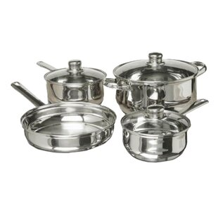 7 Piece Polished Stainless Steel Cookware Set