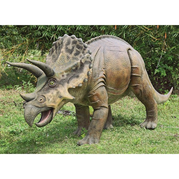 design toscano jurassic sized triceratops dinosaur statue reviews wayfair