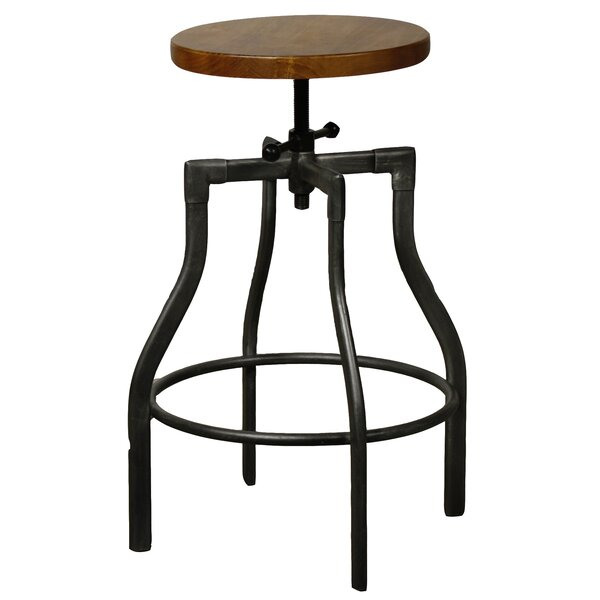 Exceptional New Pacific Direct Industrial Adjustable Height Swivel Bar Stool U0026 Reviews  | Wayfair