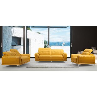 Orren Ellis Dona 3 Piece Living Room Set