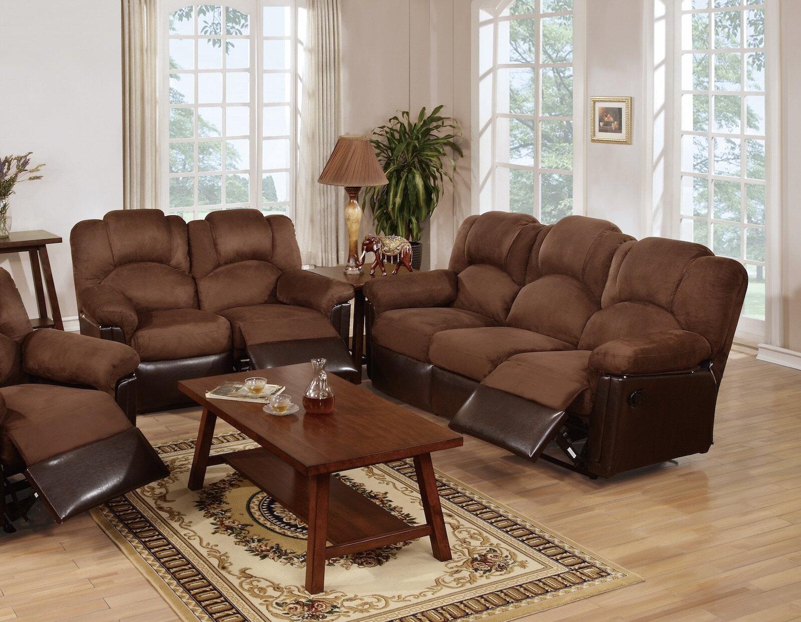 Admirable Red Barrel Studio Ingaret 2 Pieces Leather Reclining Living Home Remodeling Inspirations Basidirectenergyitoicom