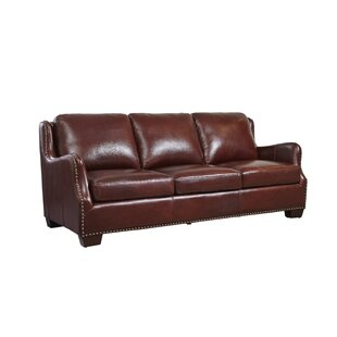 Shop Milligan Leather Sofa by Canora Grey