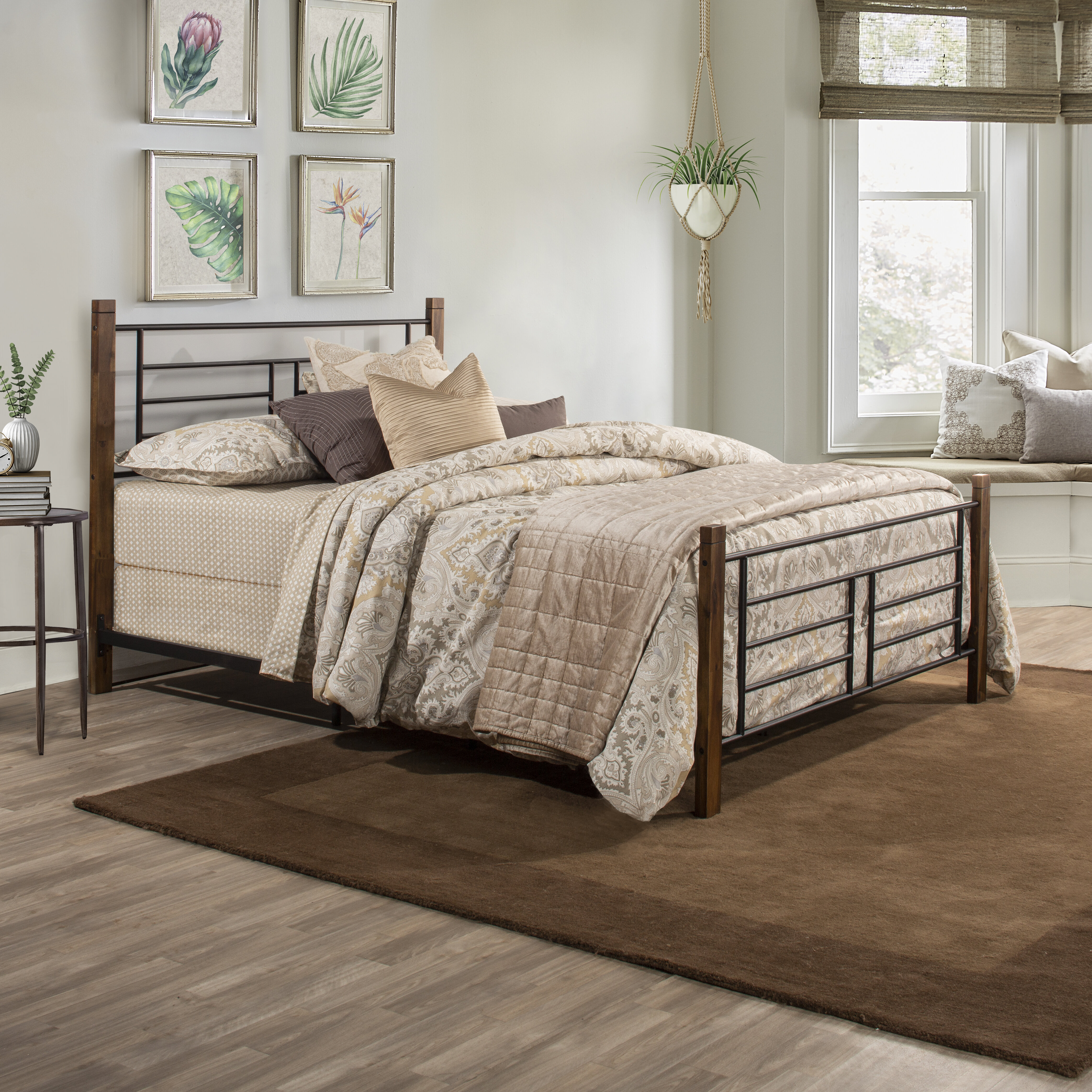 Loon Peak Cottleville Metal Wood Posts Standard Bed Reviews Wayfair
