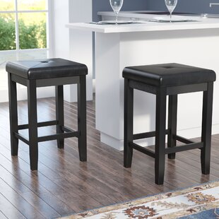 Haslingden 24.25 Bar Stool with Cushion (Set of 2) by Three Posts