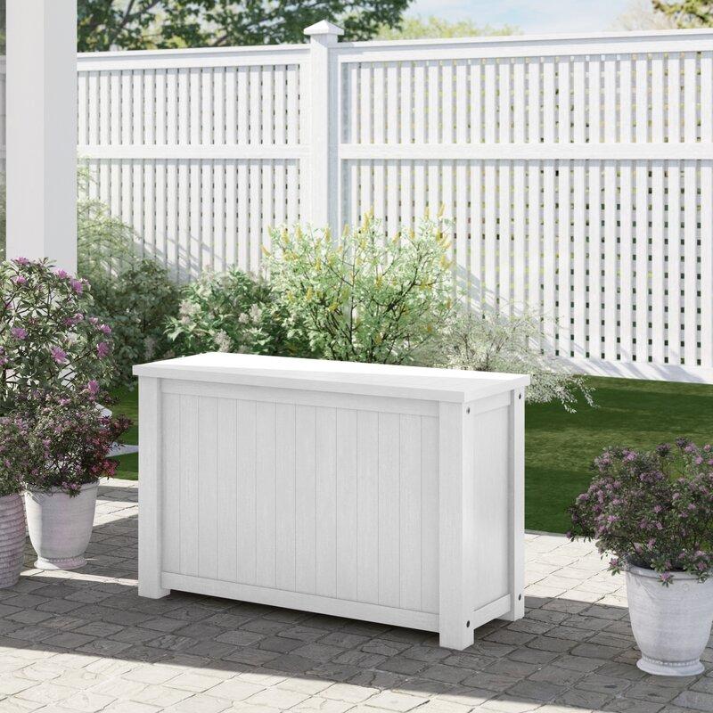 Sol 72 Outdoor Amarillo Solid Wood Deck Box