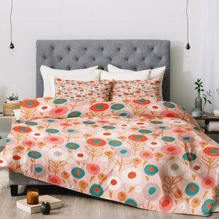 East Urban Home Wendy Kendall Crayon Floral Comforter Set