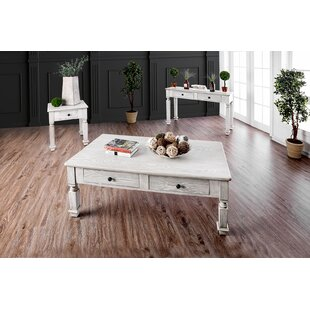 Rosecliff Heights Cotton 3 Piece Coffee Table Set