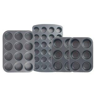 4 Piece Non-Stick Muffin Set
