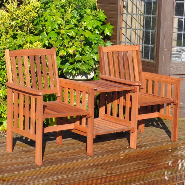 Kingfisher Garden Wooden Love Seat U0026 Reviews | Wayfair.co.uk