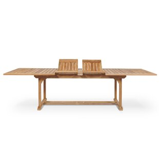 Clatterbuck Rectangular Extendable Teak Dining Table by Darby Home Co Cool
