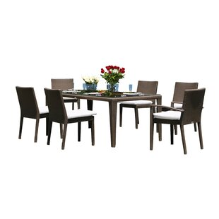 Hicklin 7 Piece Dining Set with Cushions