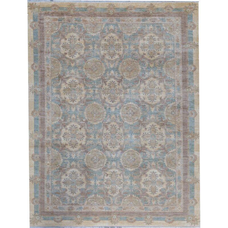 Bokara Rug Co Inc Ziegler Oriental Hand Knotted Wool Light Blue Beige Area Rug Wayfair