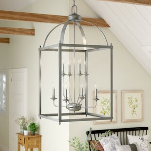 Reviews Cleona Modern 8-Light Foyer Lantern Pendant By Gracie Oaks