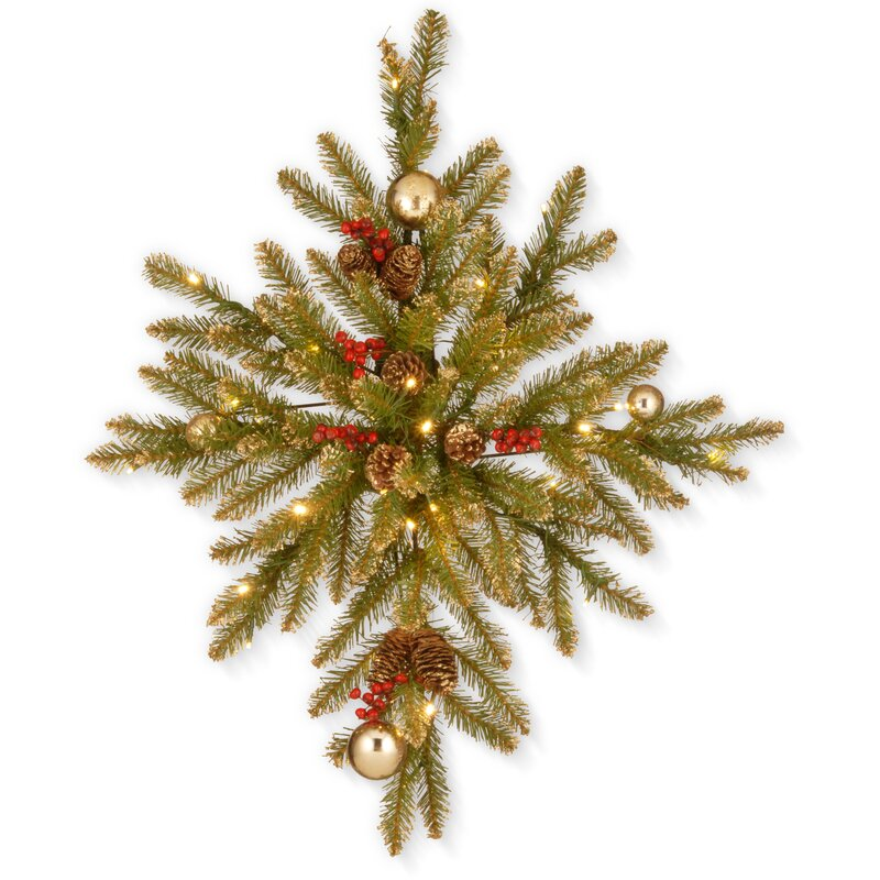32 gold dunhill fir bethlehem star christmas wreath hanger