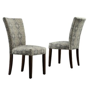 Sture Damask Upholstered Dining Chair Set of 2