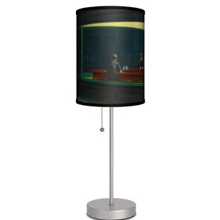 Read Reviews Pangburn Nighthawks By Edward Hopper 19 Table Lamp By Ebern Designs