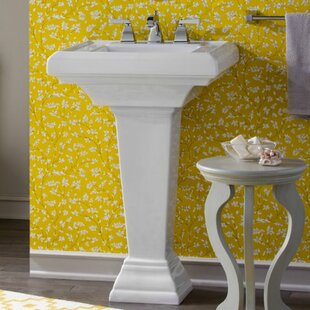 Compare Town Square Ceramic 24 Pedestal Bathroom Sink with Overflow ByAmerican Standard