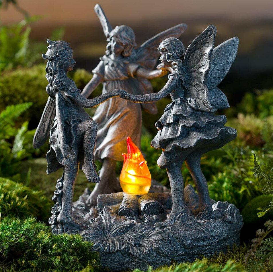 Wind U0026 Weather Dancing Fairy Garden With Solar Fire | Wayfair