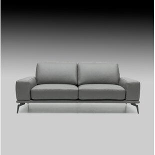 Micky Leather Sofa by Brayden Studio