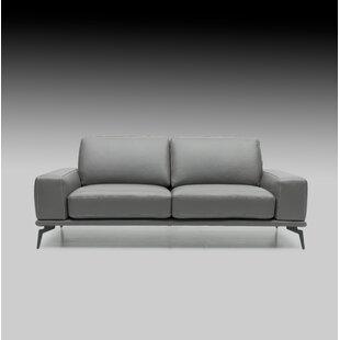 Micky Leather Sofa by Brayden Studio 2019 Online