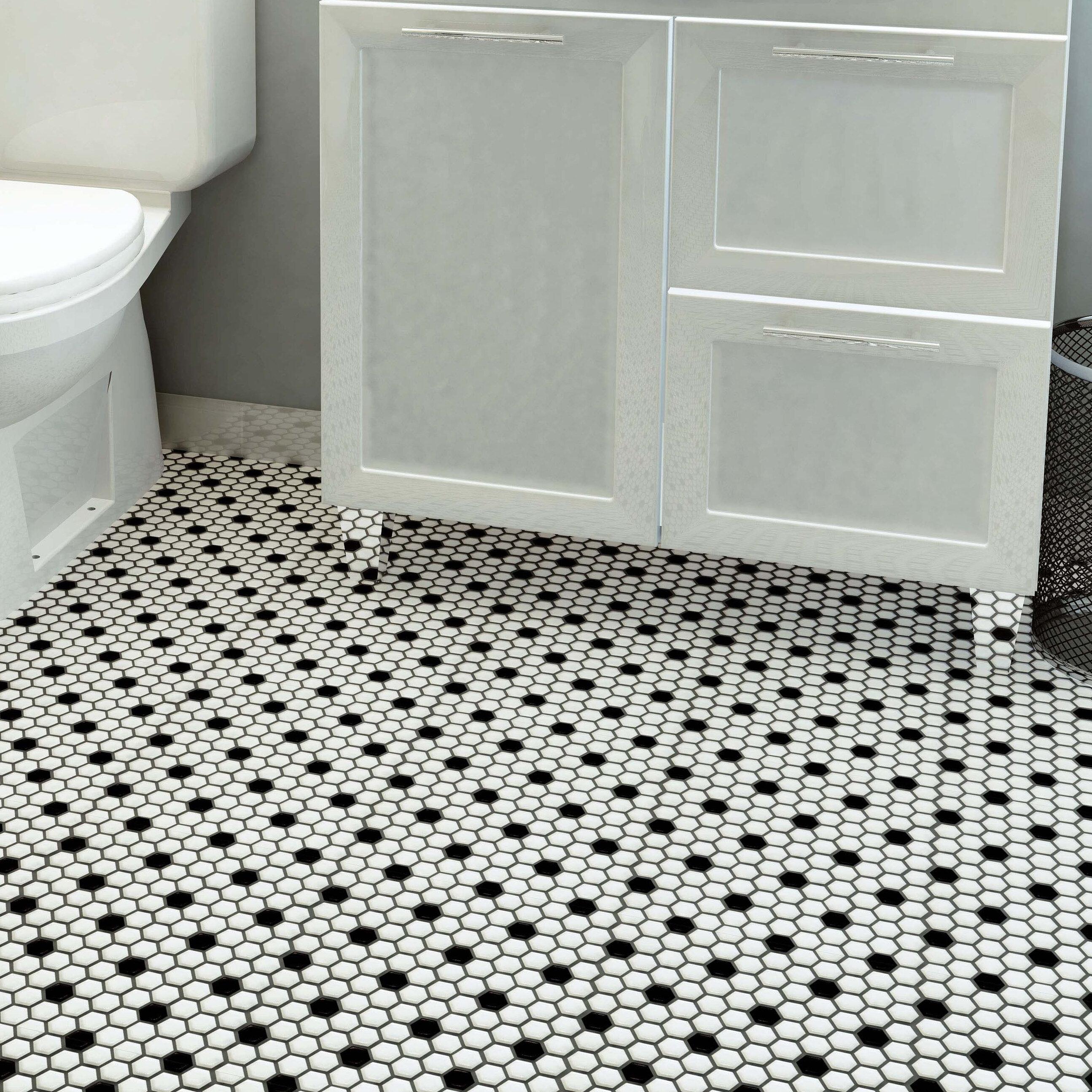Elitetile Retro 1 X 1 Porcelain Honeycomb Mosaic Wall Floor Tile Reviews Wayfair