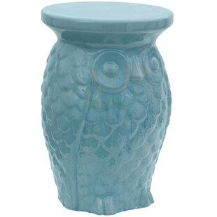 Oriental Furniture Carved Owl Porcelain G..