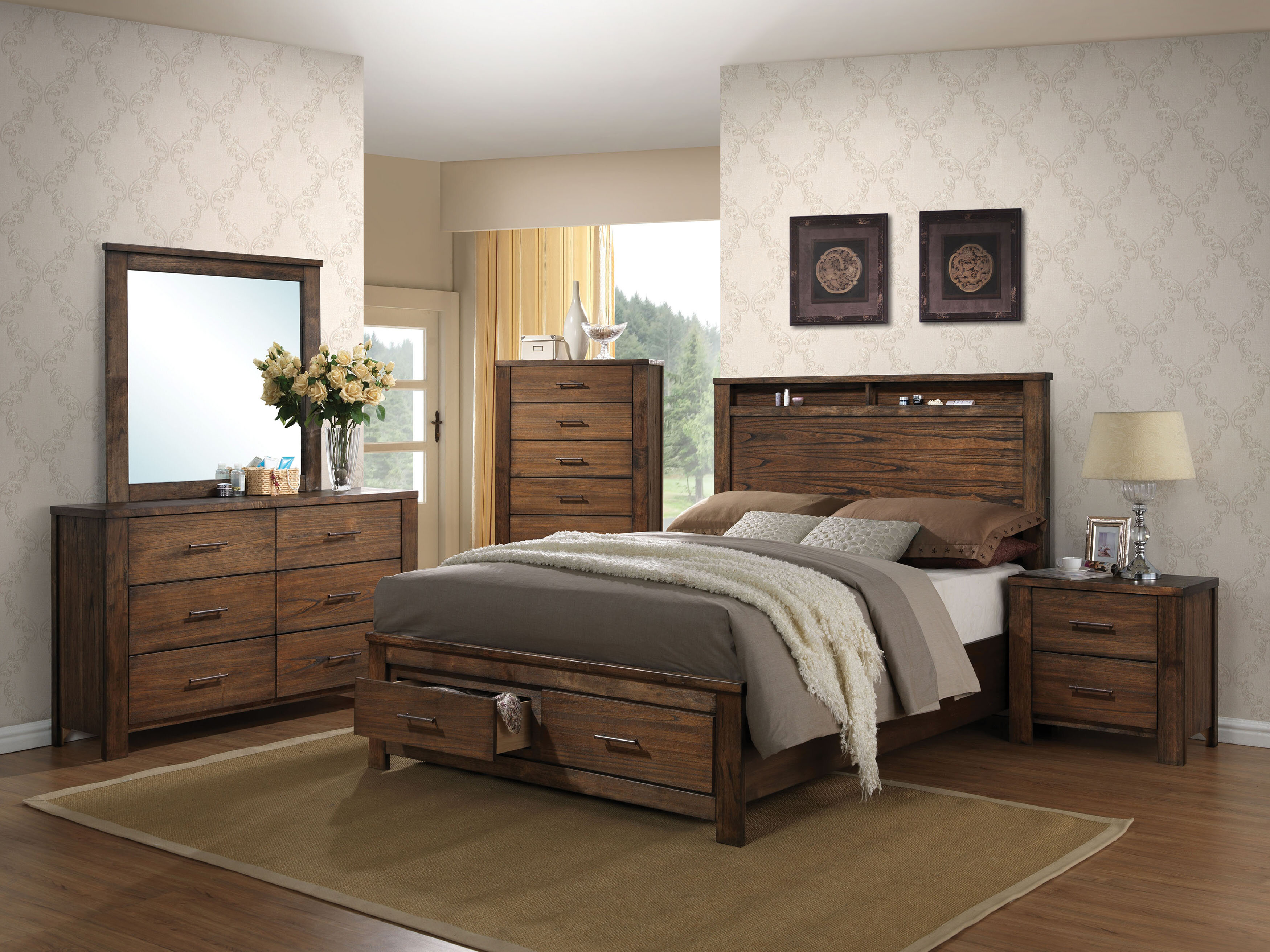 Schlesinger Storage Platform Configurable Bedroom Set