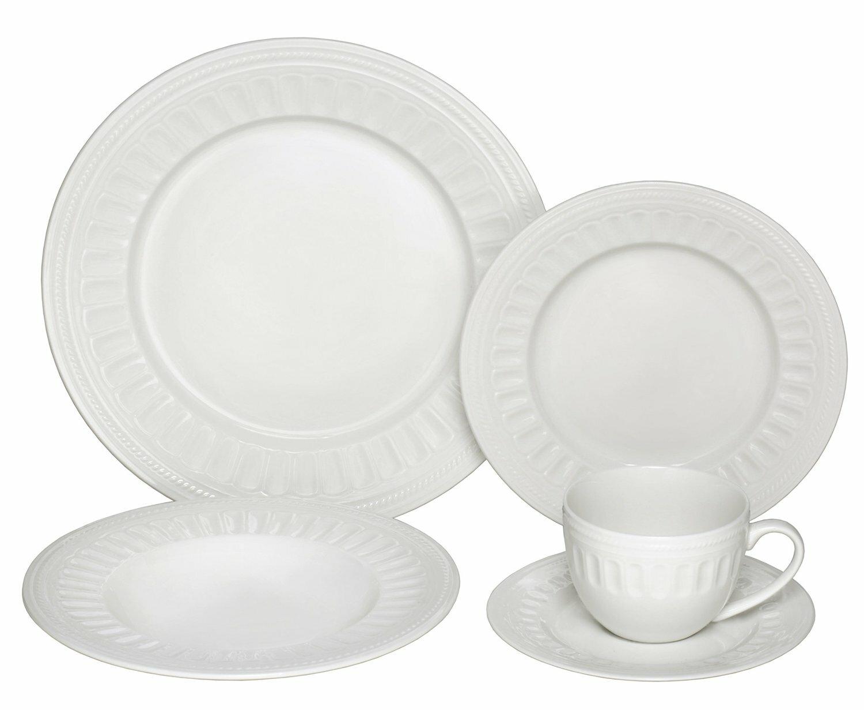 Melange English Lace Premium 40 Piece Dinnerware Set Service For 8 Wayfair